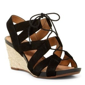 2148a9fd5ce NWOT Clarks Acina Chester Lace-Up Wedge Sandal